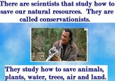 Being a Conservationist Promethean flipchart