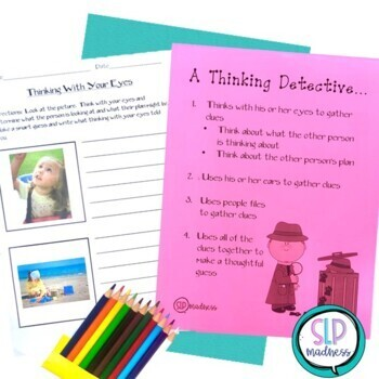 Being a Detective -Using your Eyes, Social Skills, Pragmatics