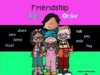 ~Being a Friend~ ABC Order Activity