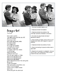 Being a Girl poetry analysis questions