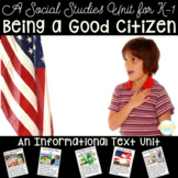 How to Be a Good Citizen - A Kindergarten & First Grade Social Studies Unit