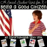 How to Be a Good Citizen - A Kindergarten & First Grade Social Studies Unit