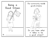 Being a Good Citizen EMERGENT READER for Social Studies