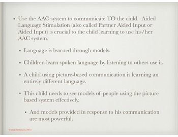 FREE Being a Good Communication Partner to an AAC User Handout