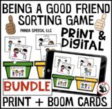 Being a Good Friend Sorting Game Digital and Print BUNDLE