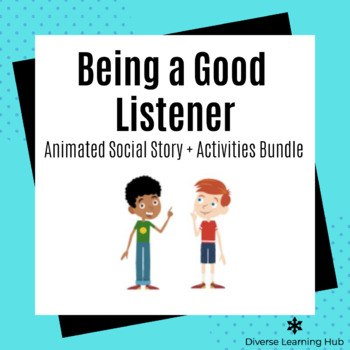 Being a Good Listener Social Story + Activities Bundle for Special Education!