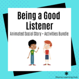 Being a Good Listener Social Story + Activity Distance Lea