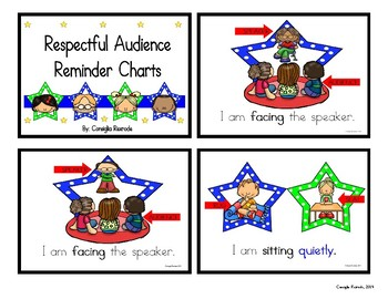 Good Listener/Respectful Audience Reminder Charts (Stars)
