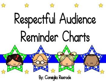 Good Listener/Respectful Audience Reminder Charts (Stars)