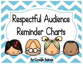 Good Listener/Respectful Audience Reminder Charts (Blue Chevron)