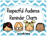 Good Listener/Respectful Audience Reminder Charts (Blue Chevron)