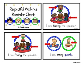 Good Listener/Respectful Audience Reminder Charts (Circles)
