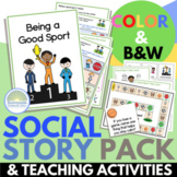 Being a Good Sport Social Story Packet with 4 Games and Activities