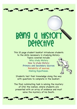 Being a History Detective - Workbook teaching basic histor