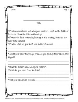Being a Powerful Nonfiction Reader Student Packet