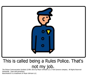 Being a Rules Police Social Story