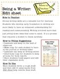 Being a Writer: Edit Sheet