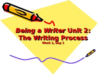 Being a Writer - Unit 2 - Fourth Grade