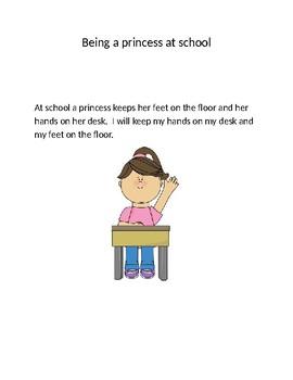 Being a princess at School Social Skills Story