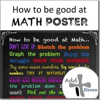 Being good at Math (POSTER)