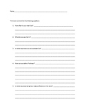 Being holy worksheet