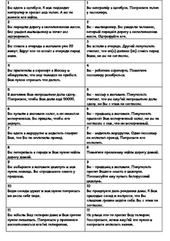 Being polite in Russian (Role-play cards)