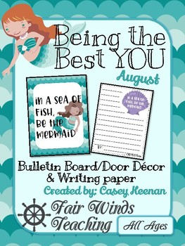 Being the Best YOU Bulletin/door decor - August