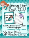 Being the Best YOU Bulletin/door decor - August