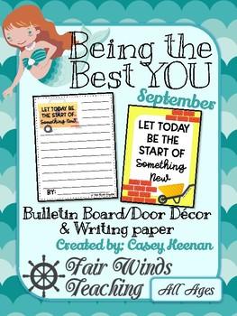 Being the Best YOU Bulletin/door decor - September