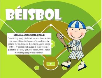 Béisbol: Spanish 2 Baseball (Avancemos 1 U4L2)