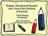 Belajar Memahami Bacaan dan Kosa Kata Bahasa Indonesia (To