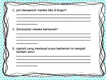 Belajar Memahami Bacaan dan Kosa Kata Bahasa Indonesia (Topik: Pergi Berkemah)
