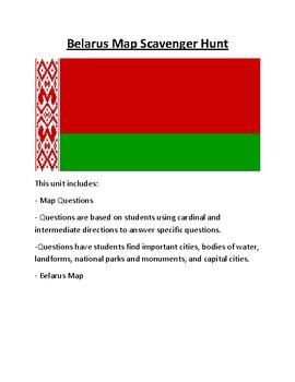 Belarus Map Scavenger Hunt