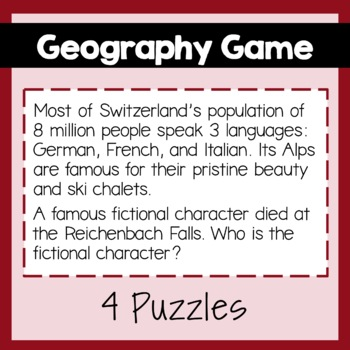 Geography Game: Belgium, France, Spain & Switzerland, PowerPoint, Maps