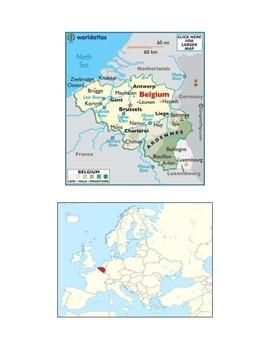 Belgium Map Scavenger Hunt