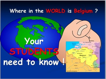 Belgium Map and Internet Activities