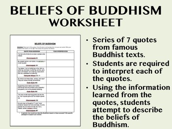 Buddhism worksheet and key! Origins, different sects, and more! | TpT
