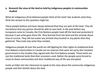 Beliefs of Indigenous People About the Land
