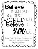 Believe In Yourself Quote & Reading Response for Stand Tal