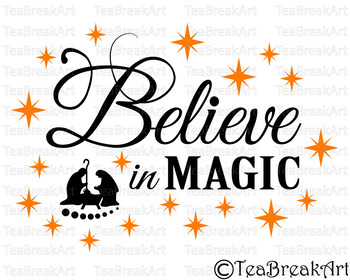 Believe In Magic Christmas Digital Cutting Files Svg Dxf Eps Clipart 702c