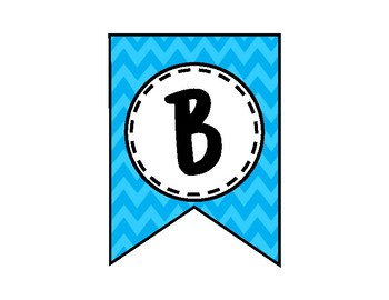 Believe in Yourself Banner - Bulletin Board - Blue Chevron