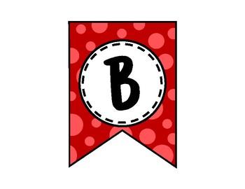 Believe in Yourself Banner - Bulletin Board - Red
