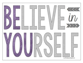 Believe in Yourself - Be You {Freebie}