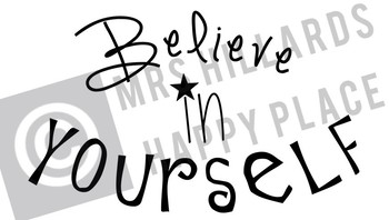 Believe in Yourself SVG & PNG files