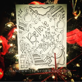 Believe in the Magic of Christmas Coloring Page