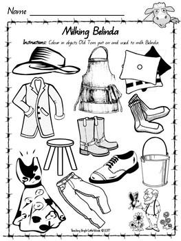 Belinda by Pamela Allen Worksheets