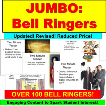 Bell Activity : Writing Prompts JUMBO Powerpoint