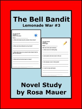 Bell Bandit Lemonade War #3 Literacy Unit