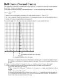 Bell Curve (Normal Curve) Normal Distribution with Answer Key (Editable)