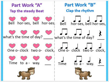 Bell, Horses {Kodaly Song to Teach la, ti-ti & ta}